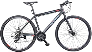 Hybrid Sport Bikes, 18 inches Aluminum frame, Shimano Tourney gears 21 speeds, 27.5 inches wheels easy to remove and install