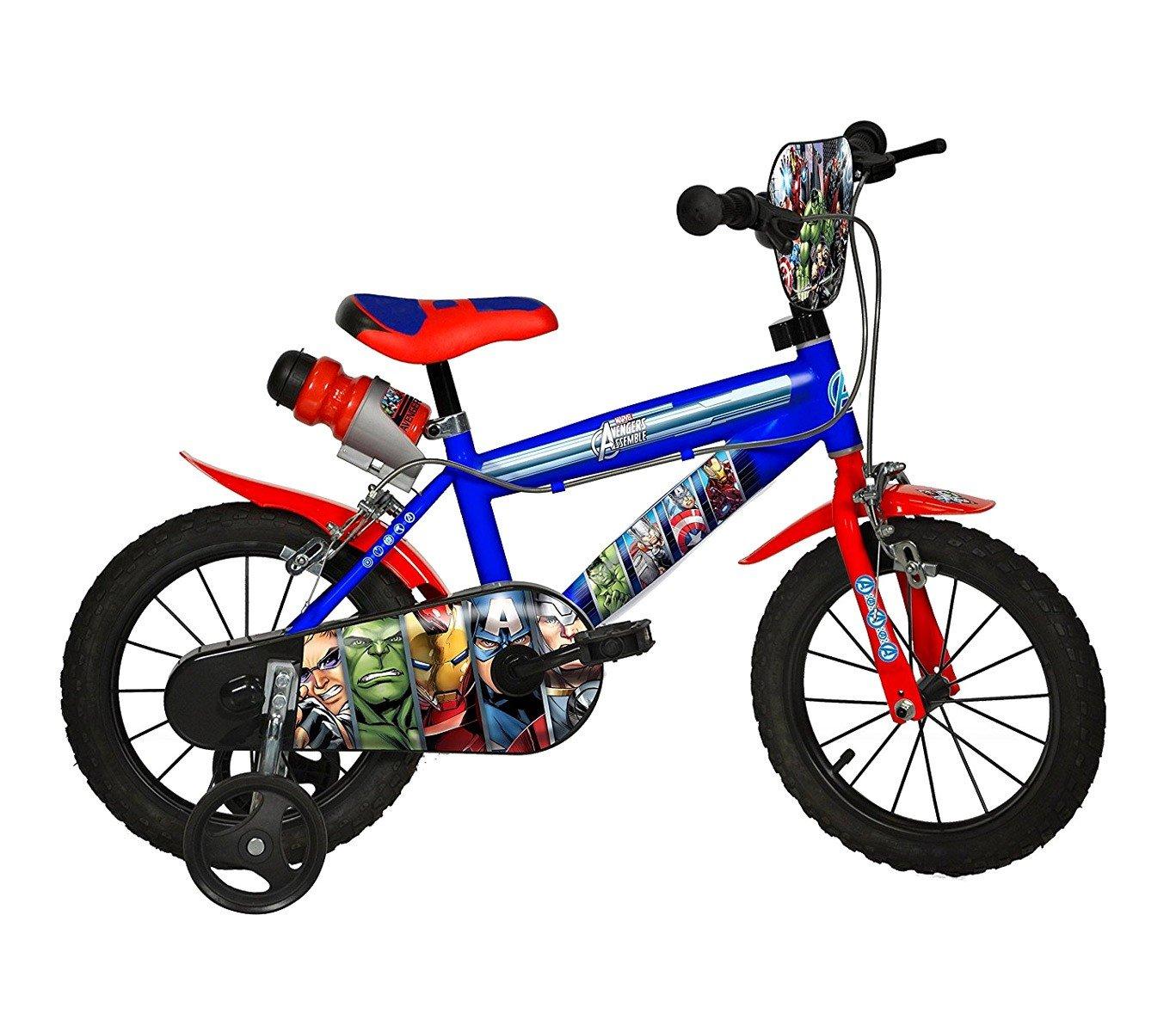 Mediawave Store Fahrrad Kinder Dino Bikes 414 u-av Größe 14 Avengers Fahrrad Alter 3 – 6 Jahre