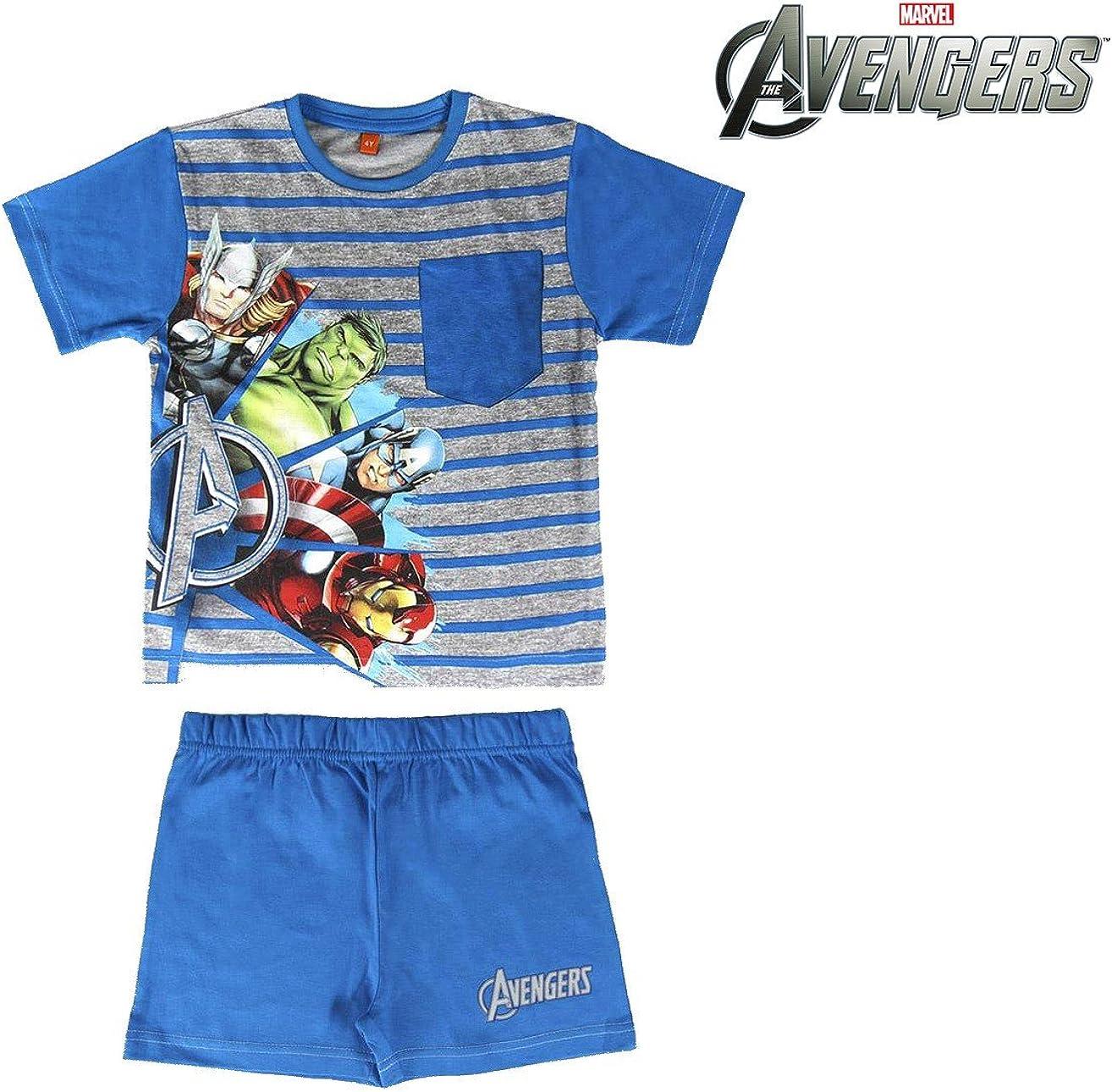 Marvel Completo Bambino Mezza Manica Corto in Cotone Avengers Art 5075