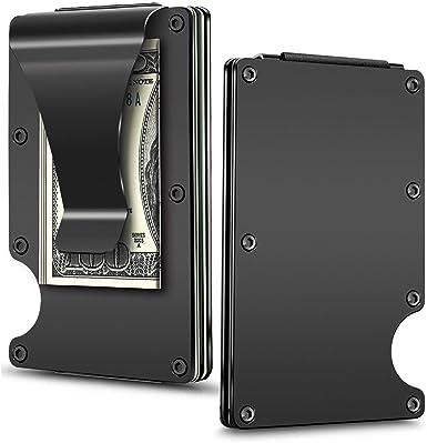 Money Clip Slim Wallet-EGRD Carbon Fiber Front Pocket Minimalist Wallet For Men