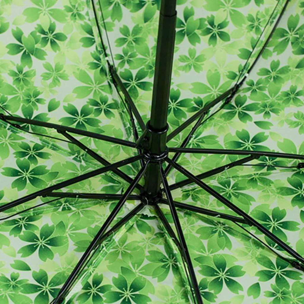 Color : C Umbrella 8 Bone Umbrella Stand UV Protection Tri-fold Type Easy Folding Rain and Rain Dual-use Umbrella