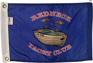 product image for 12x18 Redneck Yacht Club Boat Flag - Durable All Weather Nylon & Reinforced Fly End Stitching - Made in The USA