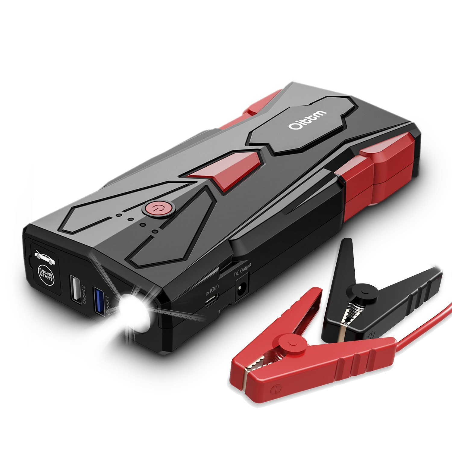 Car Jump Starter, Oittm 1500A Peak Current 15600mAh Car Battery Booster(Up to 8.0L Gas and 6.5L Diesel Engine) Power Bank Portable Charger w/ USB Charge+Quick Charge 3.0+Type-C+12V DC Output+LED Light