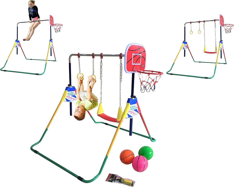 Junior Kids Playing Indoor//Outdoor Fitness Training Deluxe Ring Hoops