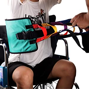 Patient Lift Sling Heavy Duty Transfer Sling for Movement Padded Patient Transfer Assist Belt for 400lb Weight Quicker Easier Safer Transfers & Toileting Lift Sling for Elderly (Green)