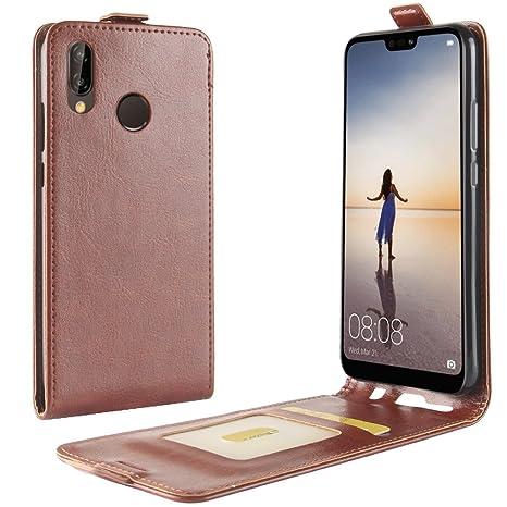 f2f6f16302 Mosoris Cover per Huawei P20 Lite Custodia, 2 in 1 Flip PU+TPU Portafoglio