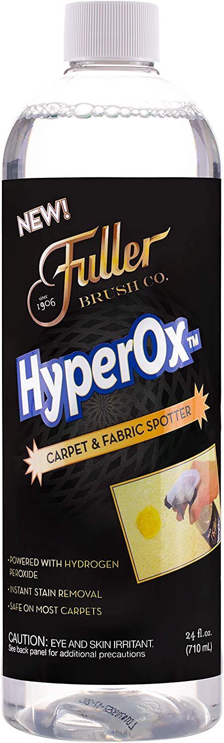 Fuller Brush HyperOx Carpet & Fabric Spotter with Sprayer – Removes the Tough Set-in Stains – Odor Eliminator –Citrus Fresh Scent – 24 oz.