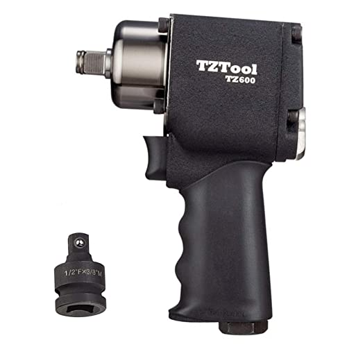 TZTool 1 2 3 8 Compact impact wrench with 3 8 impact reducer