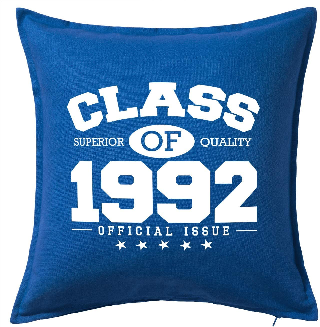 HARD EDGE DESIGN Class of 1992 Blue Throw Pillow Cover
