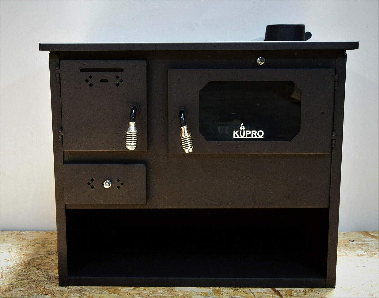 Estufa de leña, horno de combustible, encimera, 7,5 kW de vidrio