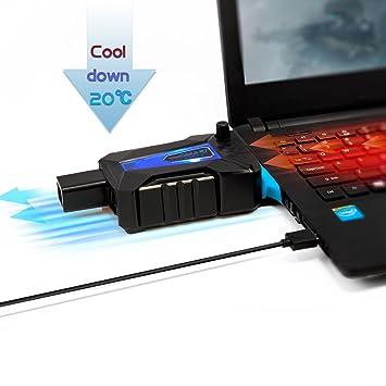 Neuftech USB ventilador de refrigeración Cooling Cooler Fan para el ordenador portátil Notebook
