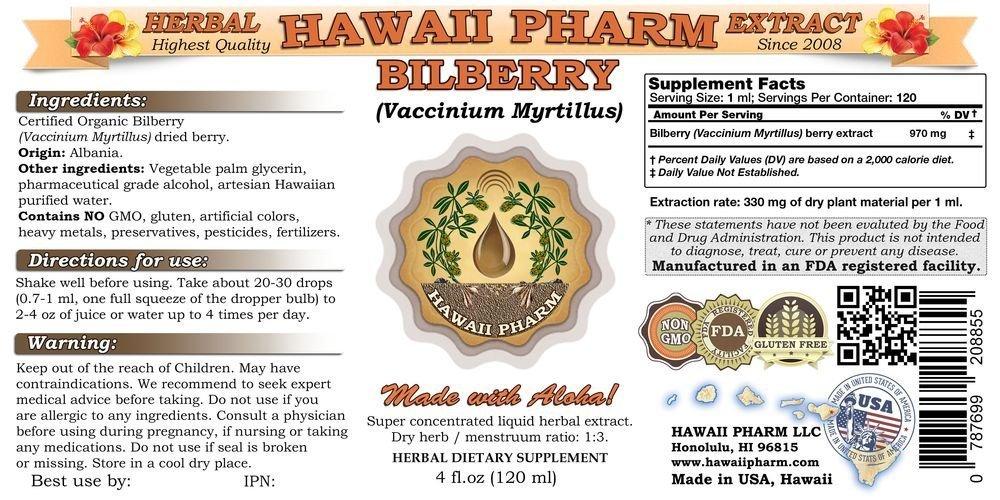 Bilberry Vaccinium myrtillus Liquid Extract 4 oz