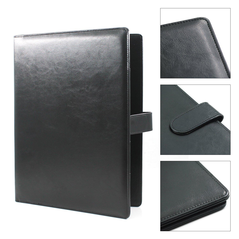 Porte Document A4 Laconile Simili Cuir Porte Bloc Notes Robuste