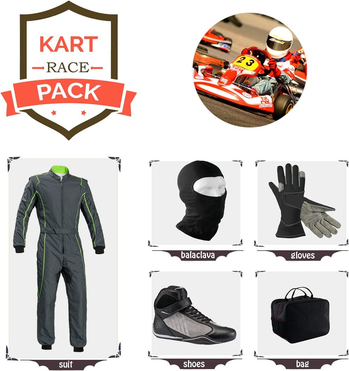 Kart Race suit all you can have free balaclava and gloves