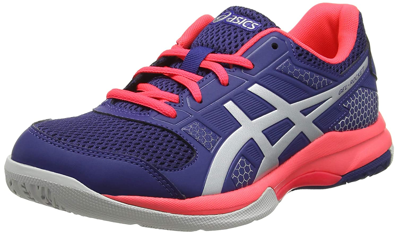 Asics Gel-Rocket 8, Zapatos de Voleibol para Mujer 42 EU|Azul (Blue Print/Silver 400)