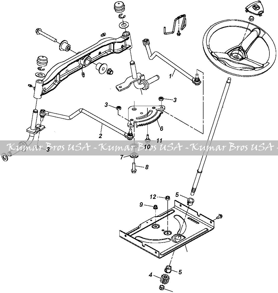 belt diagram d110 amazon com kumar bros usa tractor steering kit for john deere  kumar bros usa tractor steering kit for