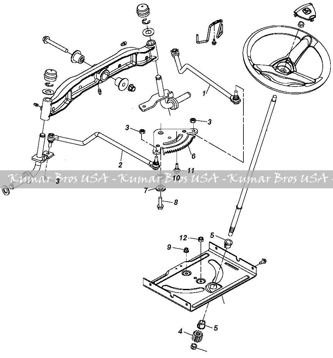 John Deere L111 Diagram Tie Bar Content Resource Of Wiring La140 Amazon Com Tractor Steering Kit La145 La150 La155 Rh Belt Parts