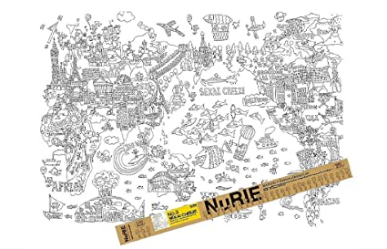 Amazon.com: Nurie Universe Paper made Giant Coloring Poster ...