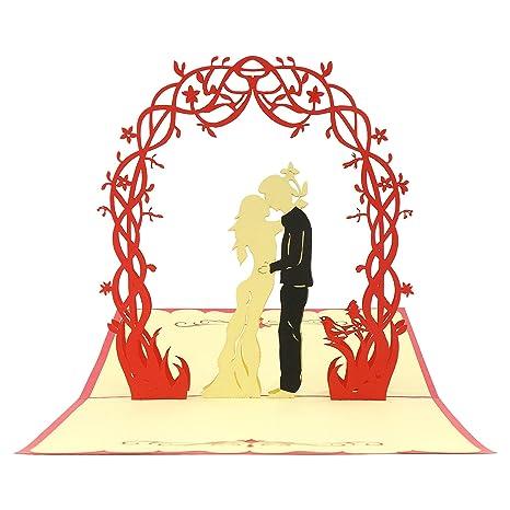 Biglietto Di Auguri 3d Per Matrimonio Anniversario Compleanno