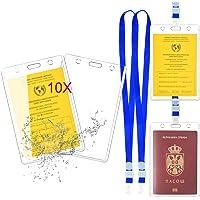 Funda para pasaporte de vacunación, funda para pasaporte de vacunación Mizijia 1X para adultos con pasaporte de…