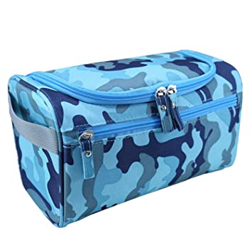 a4cf20b4c4ed Unisex Men Women Portable Waterproof Big Capacity Travel Toiletry Bag Wash  Shaving Bag Makeup Grooming Toilet Bag with Hanging Hook for Business  Vacation ...