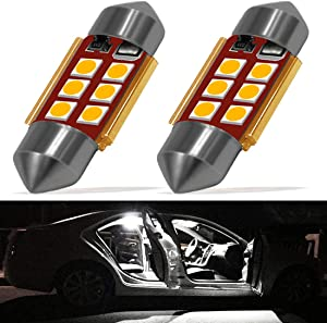 Boaton 212-2 578 LED Lights CANBUS Error Free 42mm Festoon led bulbs Extremely Bright 3030 Chipset for Car Interior Dome Map Trunk Door Courtesy License Plate Lights Xenon White