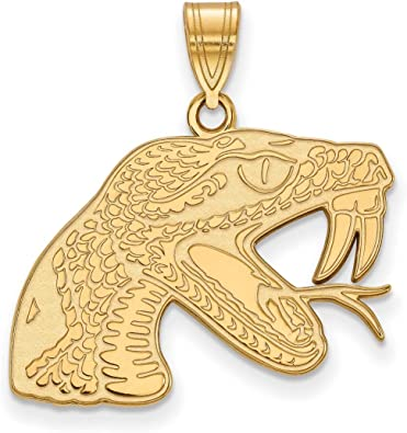 Details about  /Florida A/&M University Rattlers School Mascot Charm Pendant Gold Plated Silver
