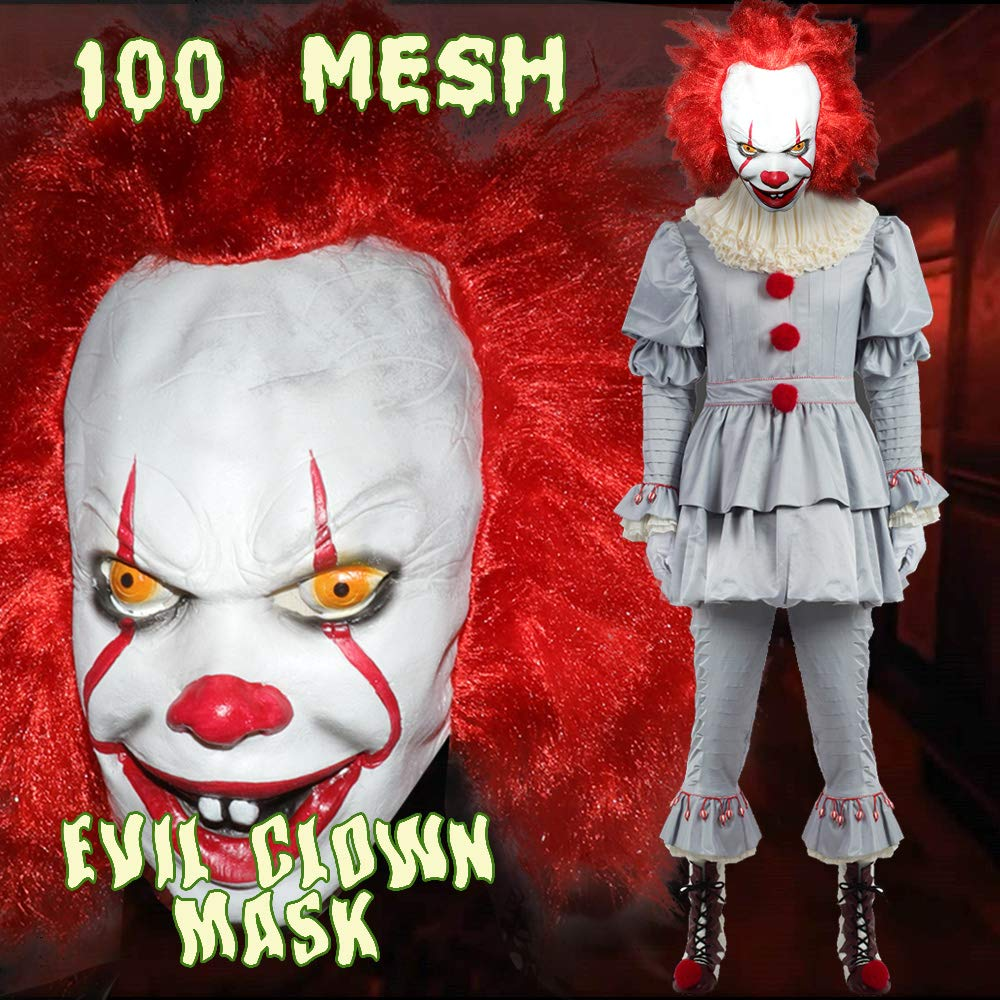 Halloween Costumes Halloween Horrific Demon Adult Scary Clown Cosplay Props Devil Flame Zombie Mask