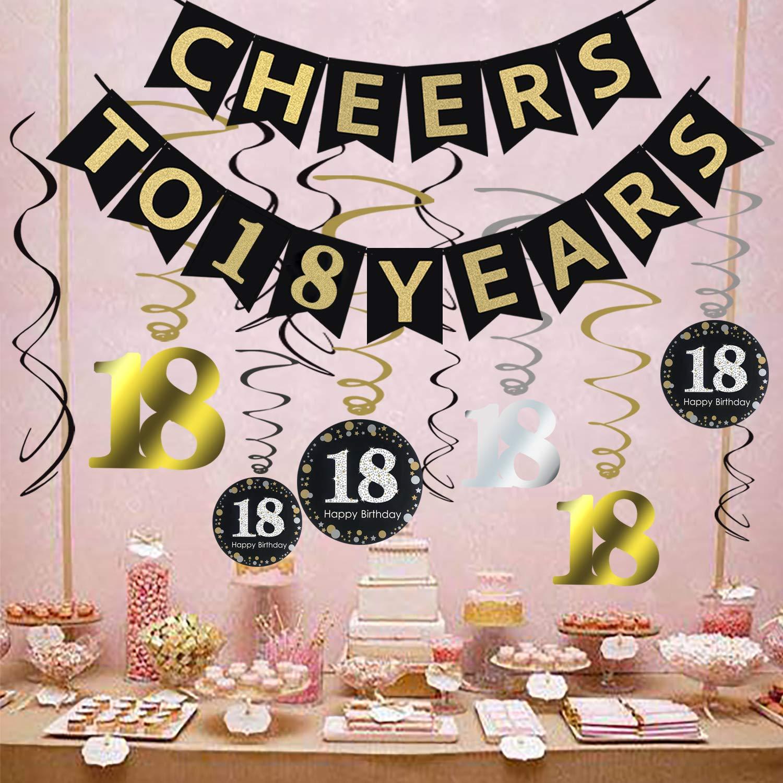 Amazon Tuoyi 18th Birthday Party Decorations KIT