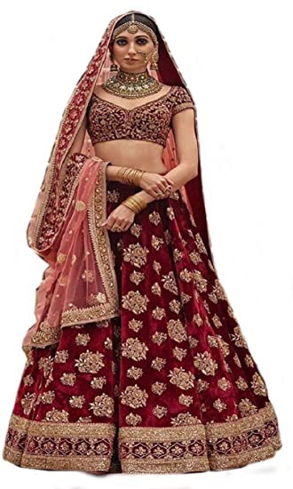59eacc7d86 Globalia Creation embroidered semi stitched lehenga for women   womens  Today preminum lehengas collection 2018   lehenga choli for girls: Amazon.in:  ...
