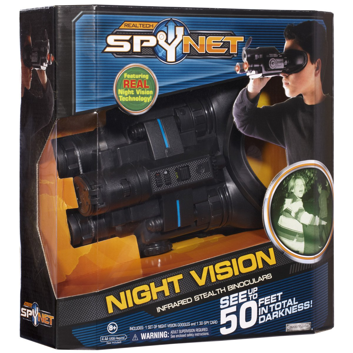 5181fa41e0424 Amazon.com  Spy Net Night Vision Infrared Stealth Binoculars  Toys   Games