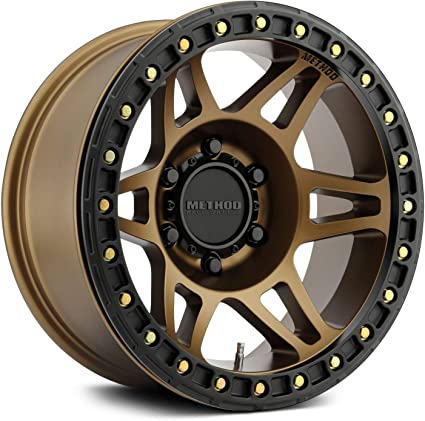 Method Race Wheels Mr10679060944b Mr106 - Candado de cuentas (17 x 9-44 mm, 6 x 5,5 mm, bronce con método Bh-h24125): Amazon.es: Coche y moto