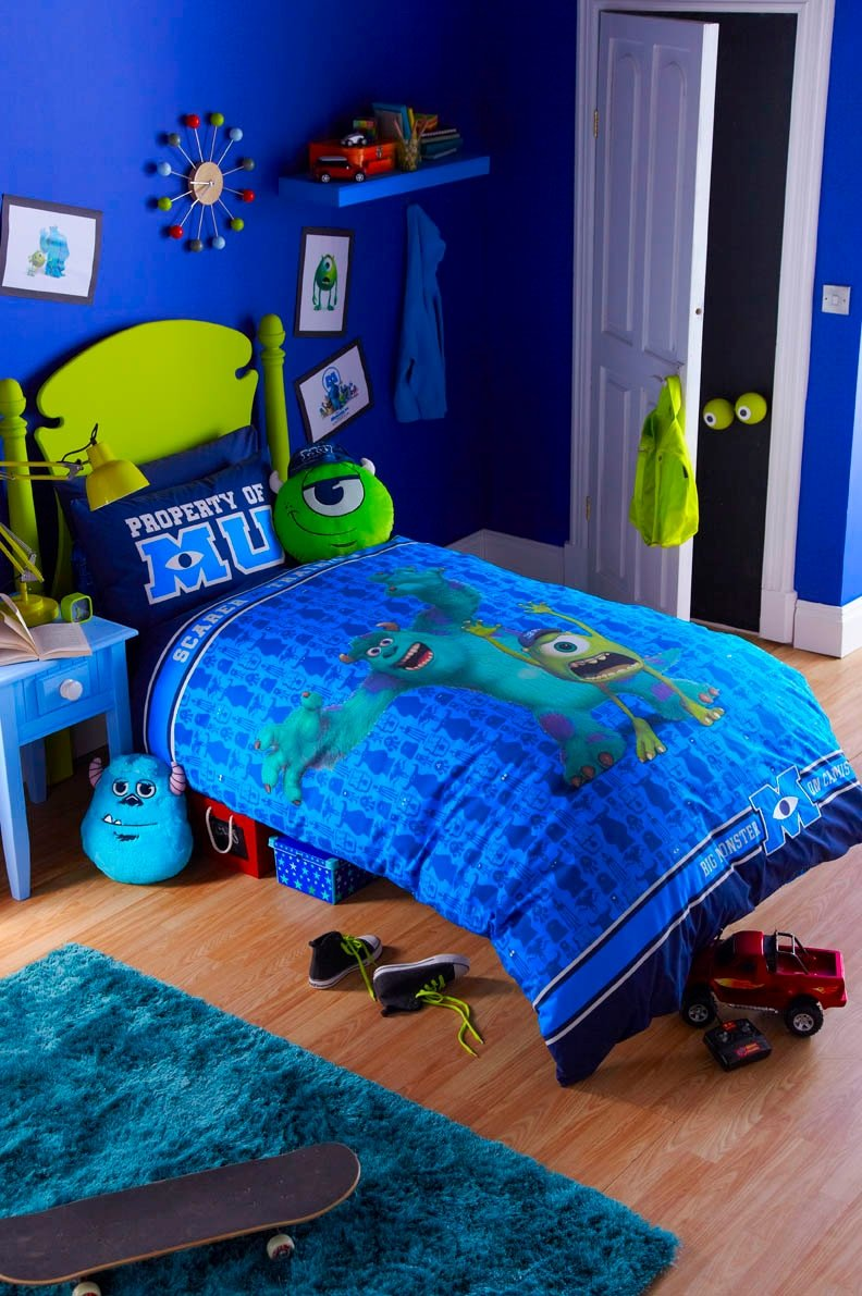 DISNEY'S MONSTERS UNIVERSITY GLOW IN THE DARK SINGLE DUVET SET -