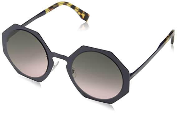 Fendi Damen Sonnenbrille FF 0152/S EN 7BG, Blau (Matt Blue/Brown Pink), 51