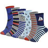 Thingimijigs 6 pares de calcetines estampados para niños
