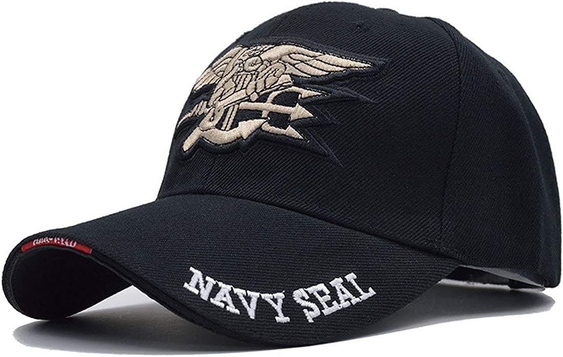 Mens US Navy Baseball Cap Navy Seals Cap Tactical Army Cap Trucker Gorras Snapback Hat for Adult at Amazon Mens Clothing store: