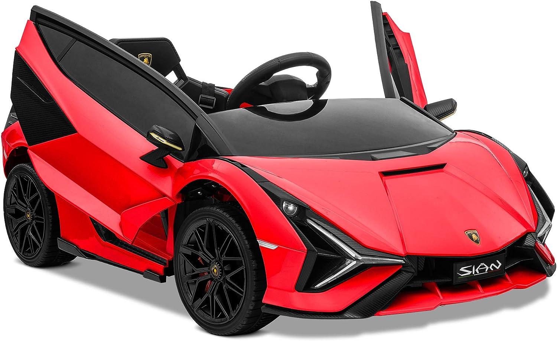Kidzone Kids 12V Electric Ride On Lamborghini Sian Car