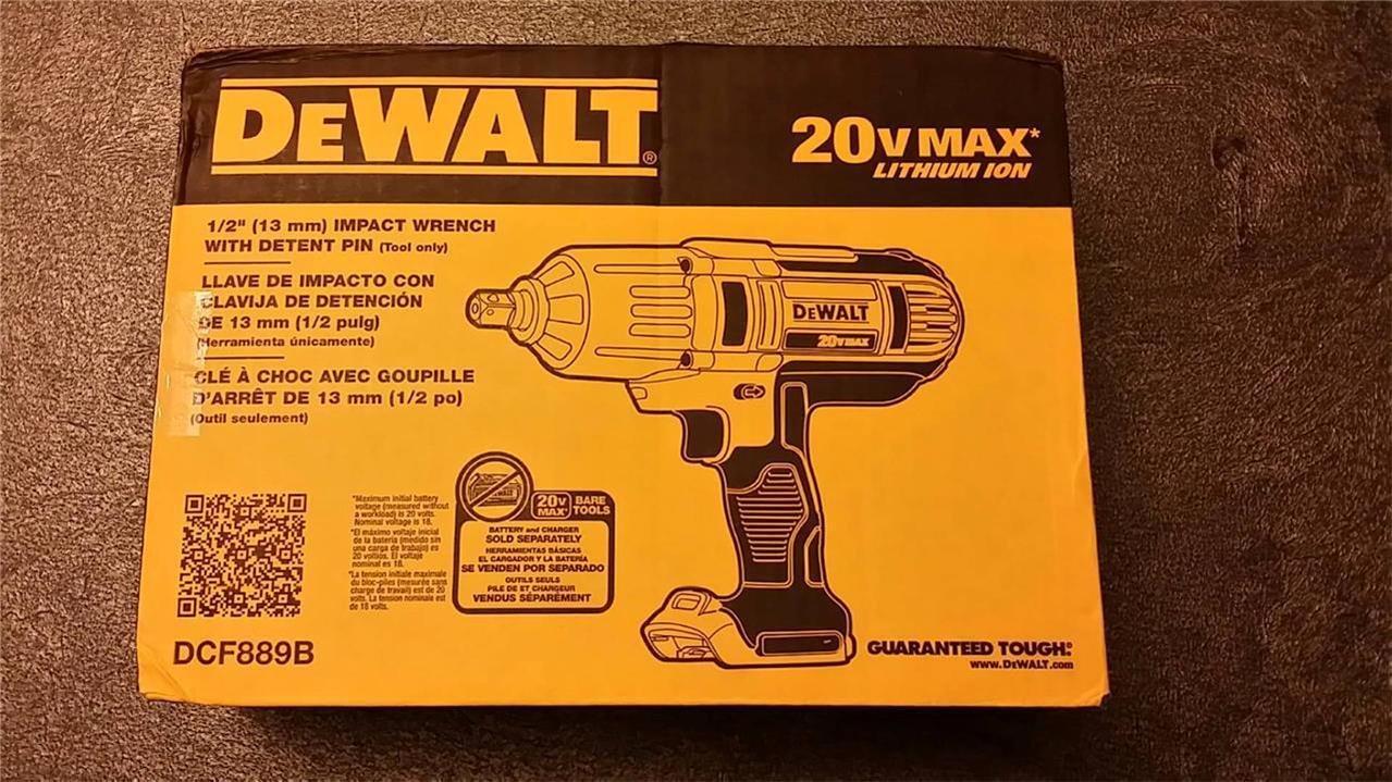 (アメリカから発送Dewalt 20 V Max Liイオン1 / 2高トルクインパクトレンチベアツール400 ft \ LBS dcf889b / Item No # e8fh4 F85458818 B01JKRBGBA
