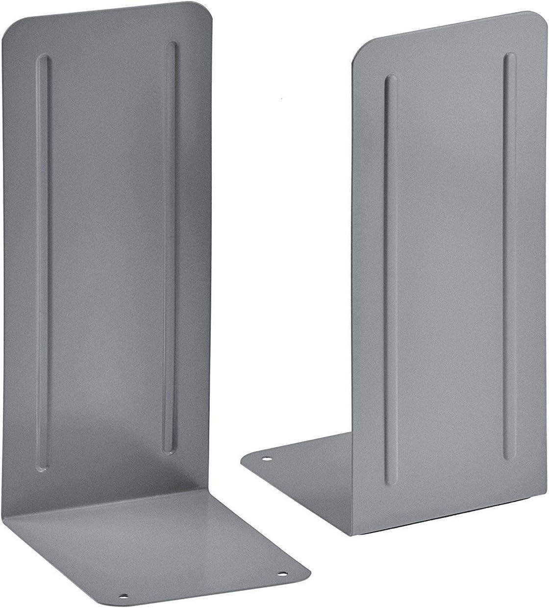 Heavy Duty Silver Color 1 Pair Acrimet Jumbo Premium Metal Bookends 9
