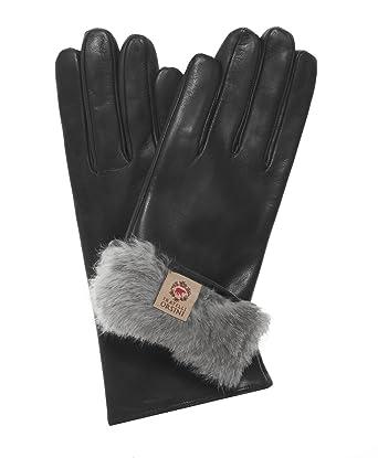 41e826ae0 Fratelli Orsini Women's Italian Natural Rabbit Fur Gloves Size 6 1/2 Color  Black