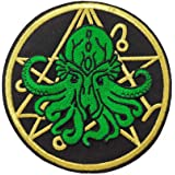 EF-PAT-00003 Cthulhu Fish Embroidered Patch 4 Wide