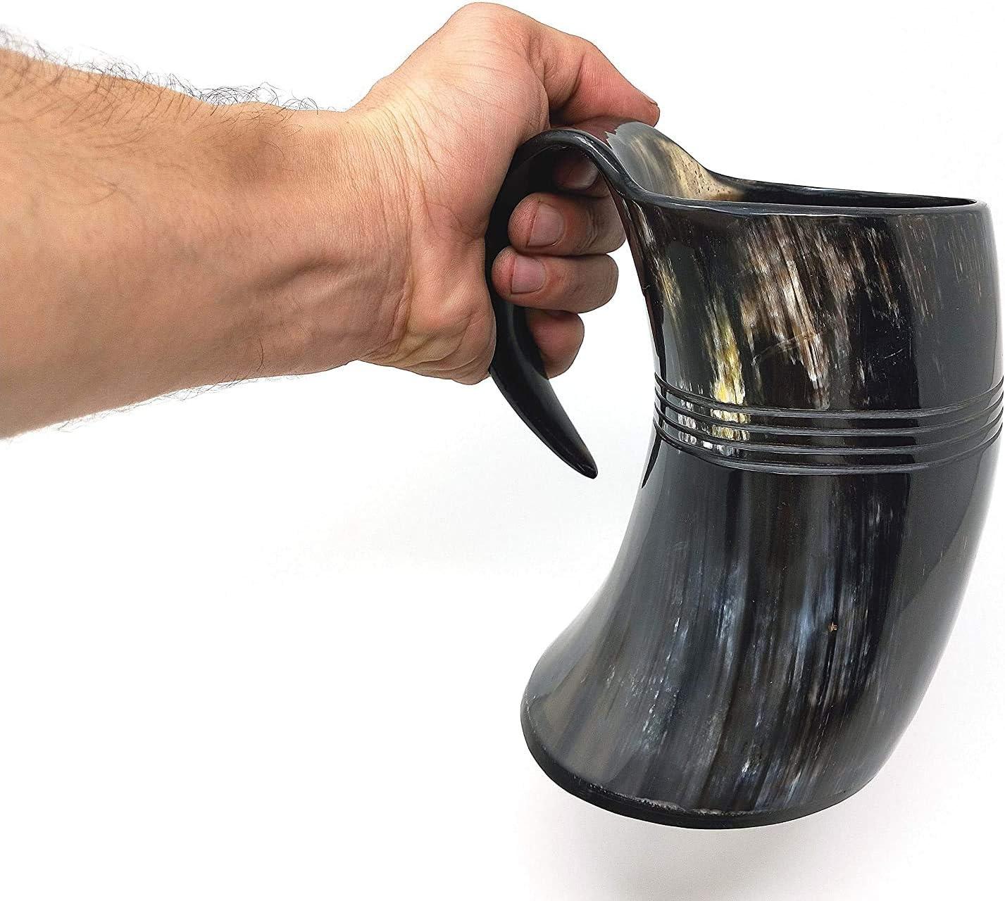 NAUTICAL GIFT Taza de cuernos de alta calidad   Jarra de cerveza Vikingo   Taza de cuerno de beber auténtica taza vikinga (1)