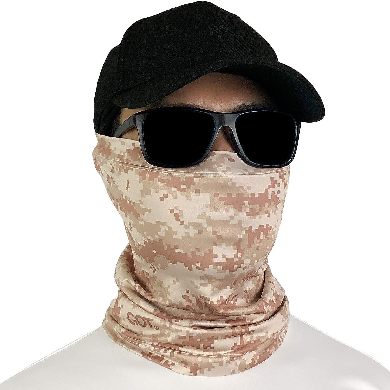 Balaclava Neck Gaiter Bandana GOT Sports UPF 50+ Fishing Sun Face Mask UV Protection Scarf