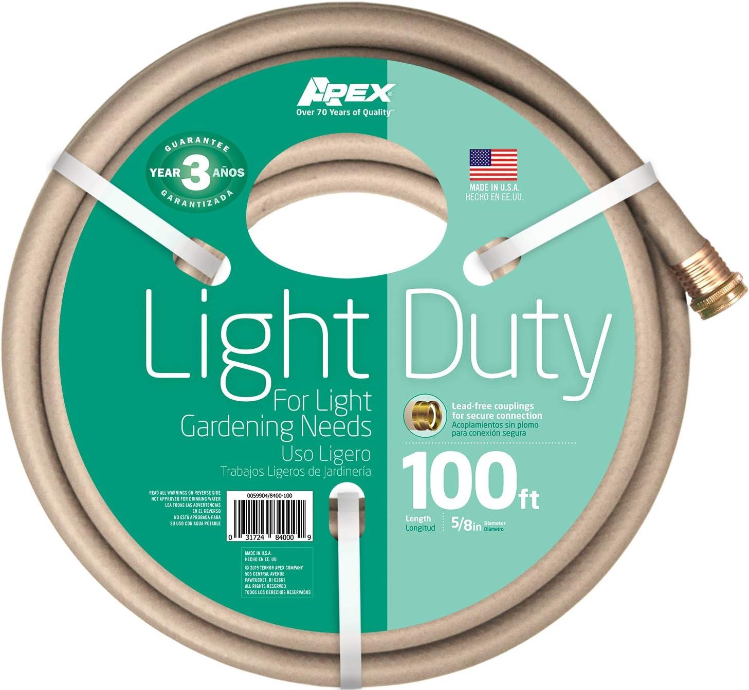 Apex, 8400-100, Light Duty Garden Hose, 5/8-Inch by 100-Feet