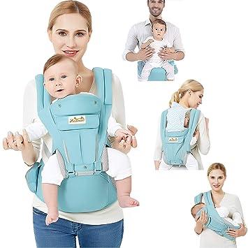 3d2c066c4a03 Viedouce Porte bébé Ergonomique avec Siège à Hanche Pur Coton Léger et  Respirant Multiposition