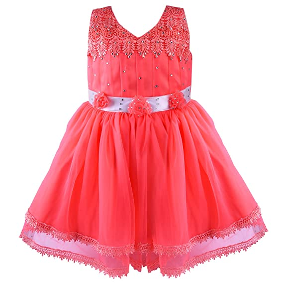 4a1bd1f39 Wish Karo Baby Girls Net Party Wear Frock Dress - (bx55t - Tomato ...