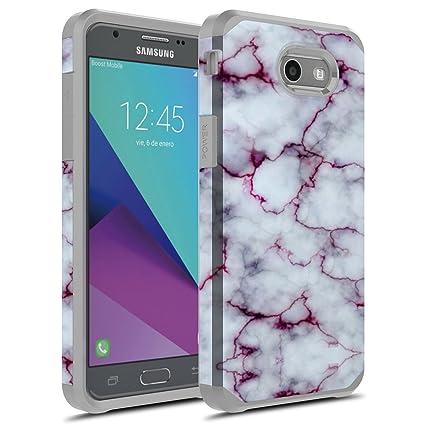 J3 Emerge Case, Galaxy J3 Prime Case, Galaxy Amp Prime 2 / Sol 2 / J3  Mission / J3 Eclipse / J3 2017 / J3 Luna Pro Case, Rosebono Hybrid  Shockproof