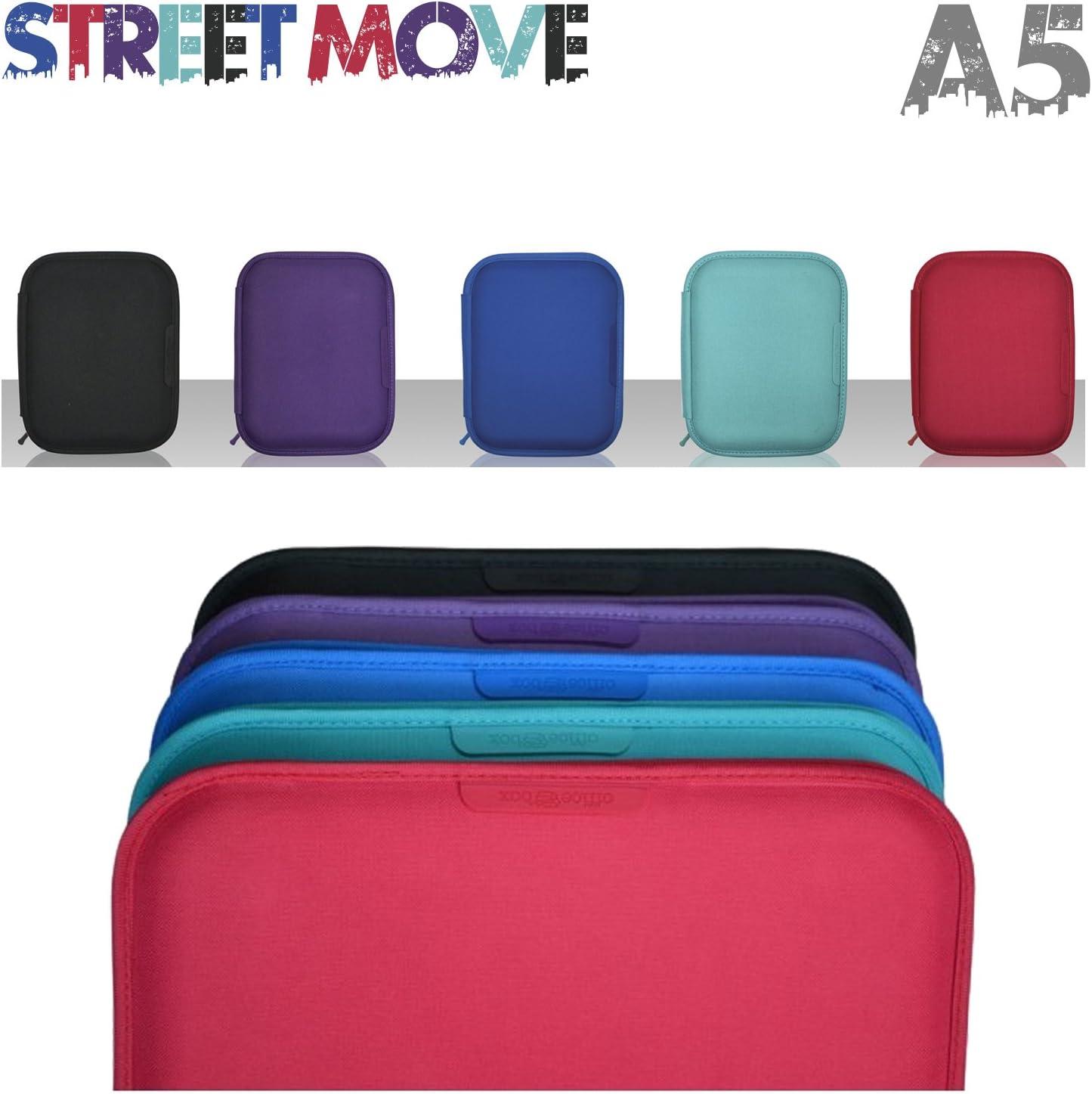 Portafolio / Carpeta Street Move con Apartados Multiusos y Cuaderno Cuadriculado A5, Exterior Fabricado en Nylon de Alta Resistencia, Color Azul, Medidas 21 x 26 x 3 cm: Amazon.es: Oficina y papelería