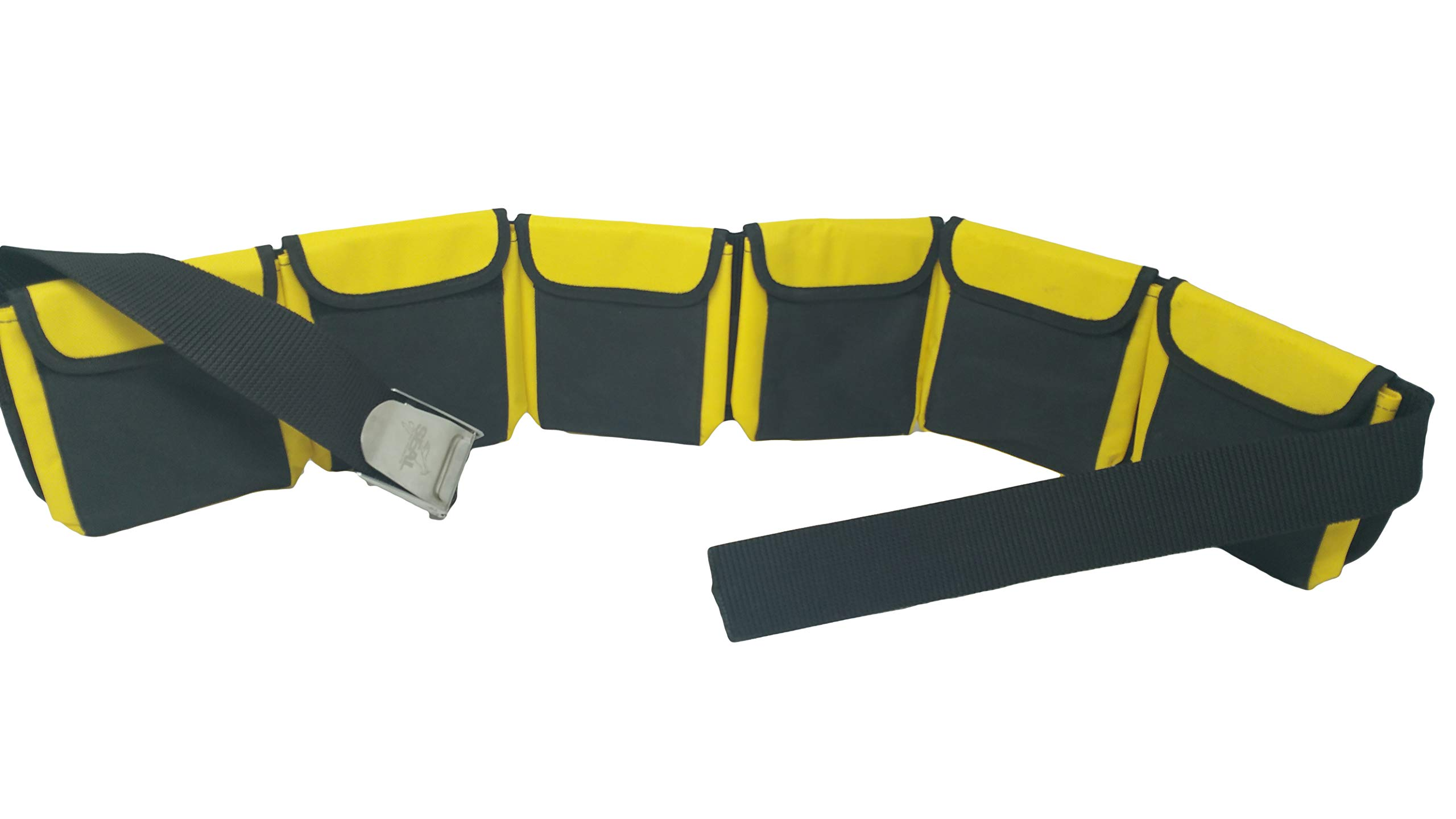 Seal Supplies ltd Scuba Diving 6 Pocket Yellow Large Weight Belts