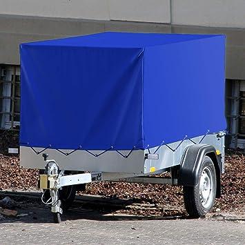 Ecd Germany Anhängerplane Hochplane Mit Gummigurt 2075 X 1140 X 900 Mm Für Pkw Anhänger Blau Wasserdicht Schutzplane Abdeckplane Spannseil Gummizug Baumarkt